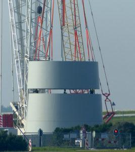Segmenten turbine hijsen